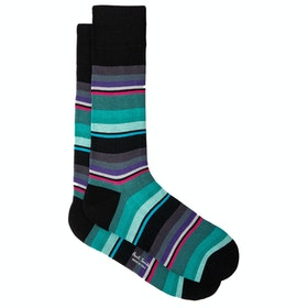 Calcetines Paul Smith Ninja Stripe - Black