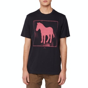 Paul Smith Spray Zebra Short Sleeve T-Shirt - Dark Navy