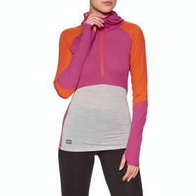 Mons Royale Bella Tech Hood Womens Base Layer Top - Punk Baby