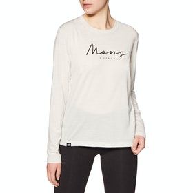 Mons Royale Suki Bf Long Sleeve Base Layer Top - White