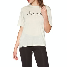 Mons Royale Suki Bf Short Sleeve Base Layer Top - White