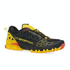 La Sportiva Bushido II Trail Running Shoes - Black Yellow
