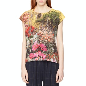 Paul Smith Printed Women's Short Sleeve T-Shirt - Floral Multi White