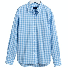 Maglietta Donna Gant The Broadcloth Gingham - Capri Blue