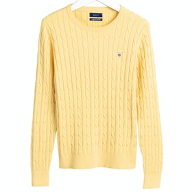 Gant Stretch Cotton Cable Crew Women's Knits - Sunlight