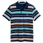 Gant Multi Stripe Piqué Polo Shirt