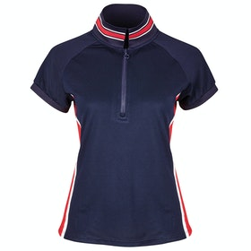 Dublin Alexis Short Sleeve Team Technical 1/4 Zip Dames Poloshirt - Navy