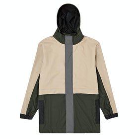 Rains Color Block Track Suit Jacke - Green Beige