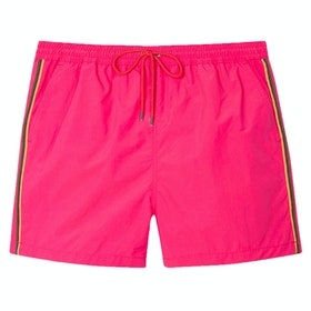Paul Smith Plain Stripe Swim Shorts - Coral
