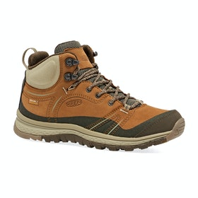 Keen Terradora Leather Mid WP Womens Walking Boots - Timber Cornstalk