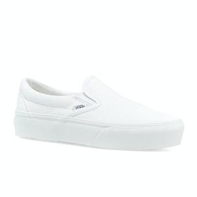 Vans Classic Platform Womens Slip On Shoes - True White