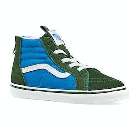 Vans Sk8 Hi Zip Two Tones Toddler Shoes - Mediterranian Blue Greener Pastures
