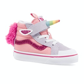 Vans Sk8 Hi Reissue 138 V Kids Toddler Shoes - Unicorn Pink Icing Lavender Blue