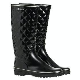Aigle Venise Quilt Ladies Wellies - Black