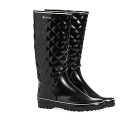 Stivali di Gomma Donna Aigle Venise Quilt - Black
