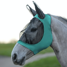 Weatherbeeta Stretch Eye Saver With Ears Fly Mask - Turquoise Black