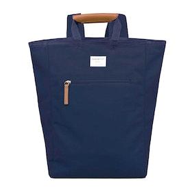 Plecak Sandqvist Tony Tote - Blue With Cognac Brown Leather