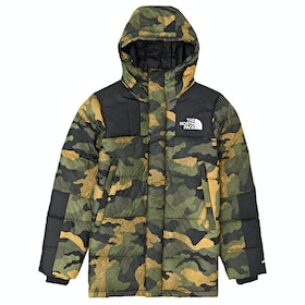 North Face Capsule Deptford Down Jacket - Burnt Olive Waxed Camo