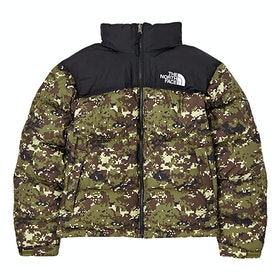 North Face Capsule 1996 Retro Nuptse Down Jacket - Burnt Olive Green UX Digi Camo Print