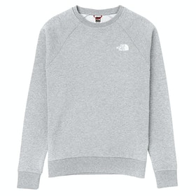 North Face Capsule Raglan Redbox Crew Pullover - TNF Grey Heather English Green UX Digi Camo Print
