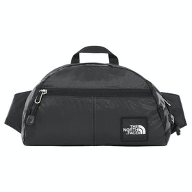 North Face Capsule Flyweight Lumbar Bum Bag - Asphalt Grey TNF Black