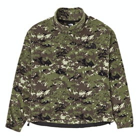 North Face Capsule Polar Damen Fleece - Burnt Olive Green Digi Camo Print