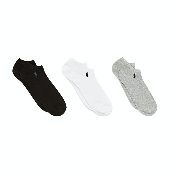 Polo Ralph Lauren Cotton Blend-Ghost Ped 3 Pack Socks