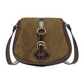 Penelope Chilvers Tambor Suede Women's Handbag - Dark Peat