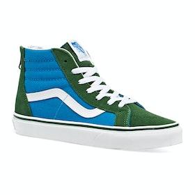 Vans Junior Sk8 Hi Zip Two Tones Kids Trainers - Mediterranian Blue Greener Pastures