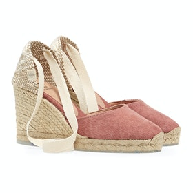 Castaner Carina H8 - Recycled Canvas Womens Espadrilles - Rosa Oscuro