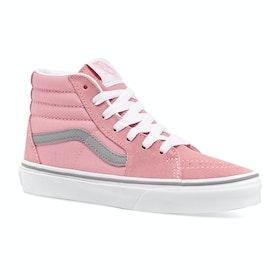 Vans Junior Sk8 Hi Kids Trainers - Pop Pink Icing Frost Grey