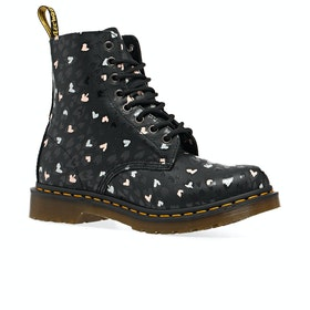 Dr Martens 1460 Pascal Hearts Womens Boots - Black Backhand