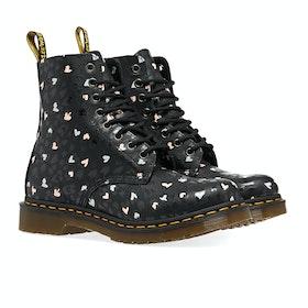 Dr Martens 1460 Pascal Hearts Women's Boots - Black Backhand