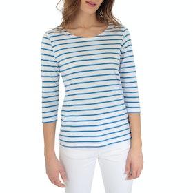 Armor Lux Marinière ''cap Coz' Women's Long Sleeve T-Shirt - Blanc Lapis