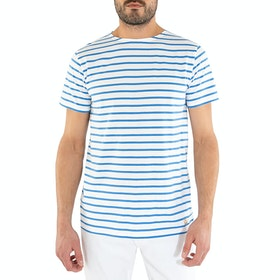 Armor Lux Mariniere Short Sleeve T-Shirt - Blanc Lapis