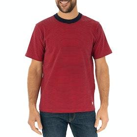 Armor Lux Fine Stripe Short Sleeve T-Shirt - Navire Rouge E20