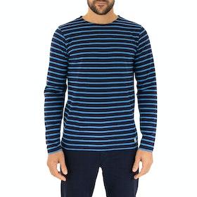 Armor Lux Marinière Long Sleeve T-Shirt - Navire Lapis