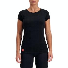 Mons Royale Bella Tech Tee Womens Base Layer Top - Black Neon