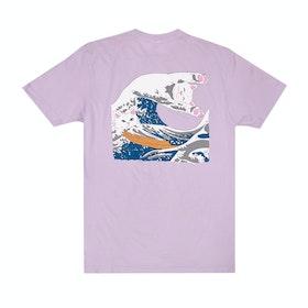 Rip N Dip Great Wave Short Sleeve T-Shirt - Lavender
