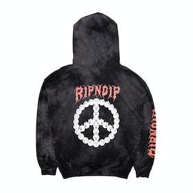 Rip N Dip Expressions Pullover Hoody - Black Lightning Wash