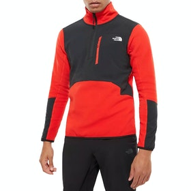 North Face Glacier Pro 1/4 , Fleece - Fiery Red TNF Black
