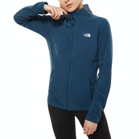North Face 100 Glacier Full Zip Womens Fleece - Blue Wing Teal
