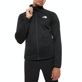 North Face Echo Rock Full FZ , Fleece - TNF Black