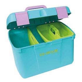 Shires EZI Groom Deluxe Grooming Box - Aqua