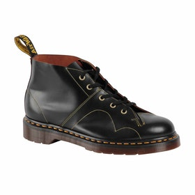 Dr Martens MIE Church Boots - Black Vintage Smooth
