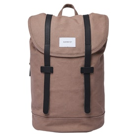 Sandqvist Stig Backpack - Earth Brown With Navy Leather
