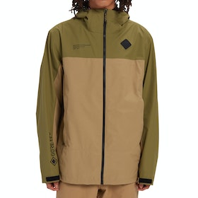 Burton Gore Packrite Waterproof Jacket - Martini Olive Kelp