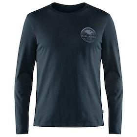 Fjallraven Forever Nature Badge Long Sleeve T-Shirt - Dark Navy