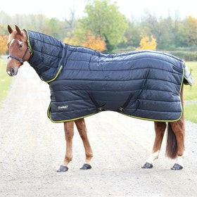 Shires Tempest 300g Combo Stable Rug - Black Lime