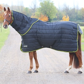 Shires Tempest 300g Neck and Stable Rug - Black Lime